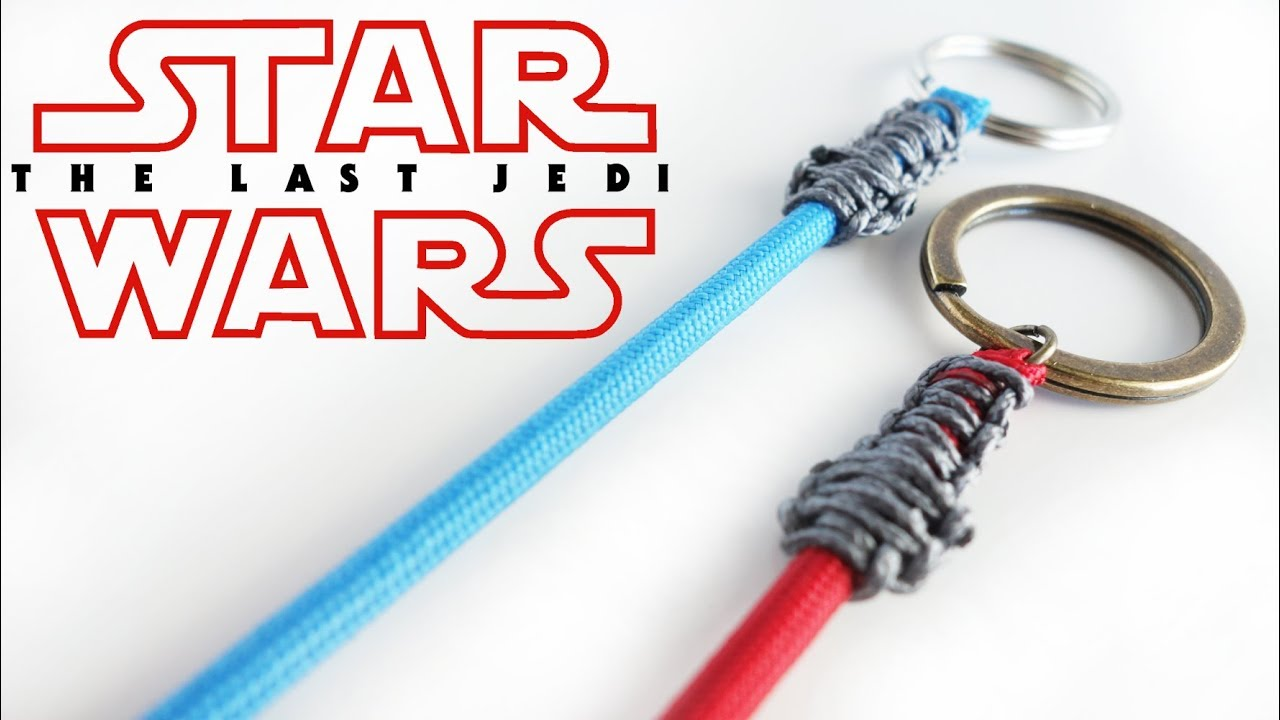 How to make a star wars paracord lightsaber keychain for How to make a keychain out of paracord
