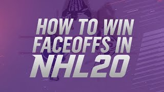 HOW TO WIN FACEOFFS IN NHL 20 (EASY Tutorial)
