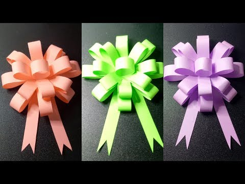 An Easy Paper Gift Bow DIY Video