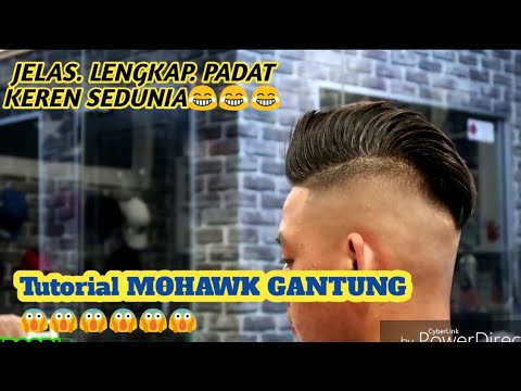Tutorial RAMBUT MOHAWK GANTUNG. New haircut stylist. paling mudah. Belajar  potong rambut pemula 35ff7fb9fc