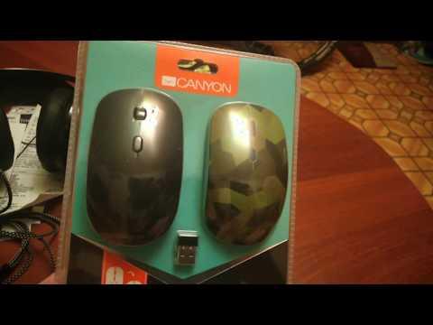 Беспроводная Компьютерная мышь CANYON. Обзор и распаковка + тест
