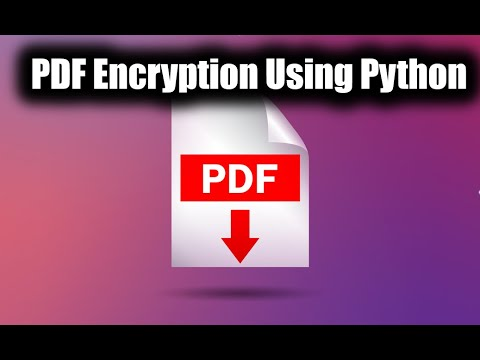 Pdf Password Protection Using Python