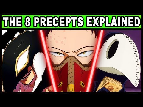 The 8 Precepts of Death and Their Quirks Explained! (My Hero Academia / MHA /BNHA / Season 4 S4)