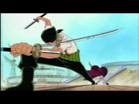 One Piece Zolo vs Mihawk UNCUT 4kids Dub - YouTube
