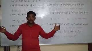 SIMPLE PAST TENSE - Part -1  English (spoken ) Class through Hindi. Grammar . Course.