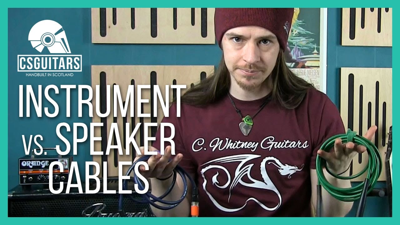instrument vs speaker cables what 39 s the difference youtube. Black Bedroom Furniture Sets. Home Design Ideas