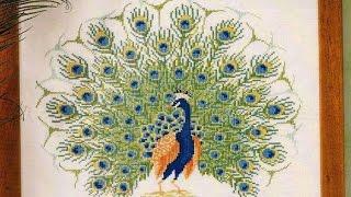Животные из бисера, вышивка павлины
