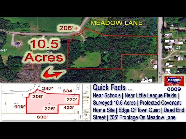 Land For Sale, Maine House Lot | 10.5 Acres On Meadow Lane Houlton ME MOOERS REALTY #8889