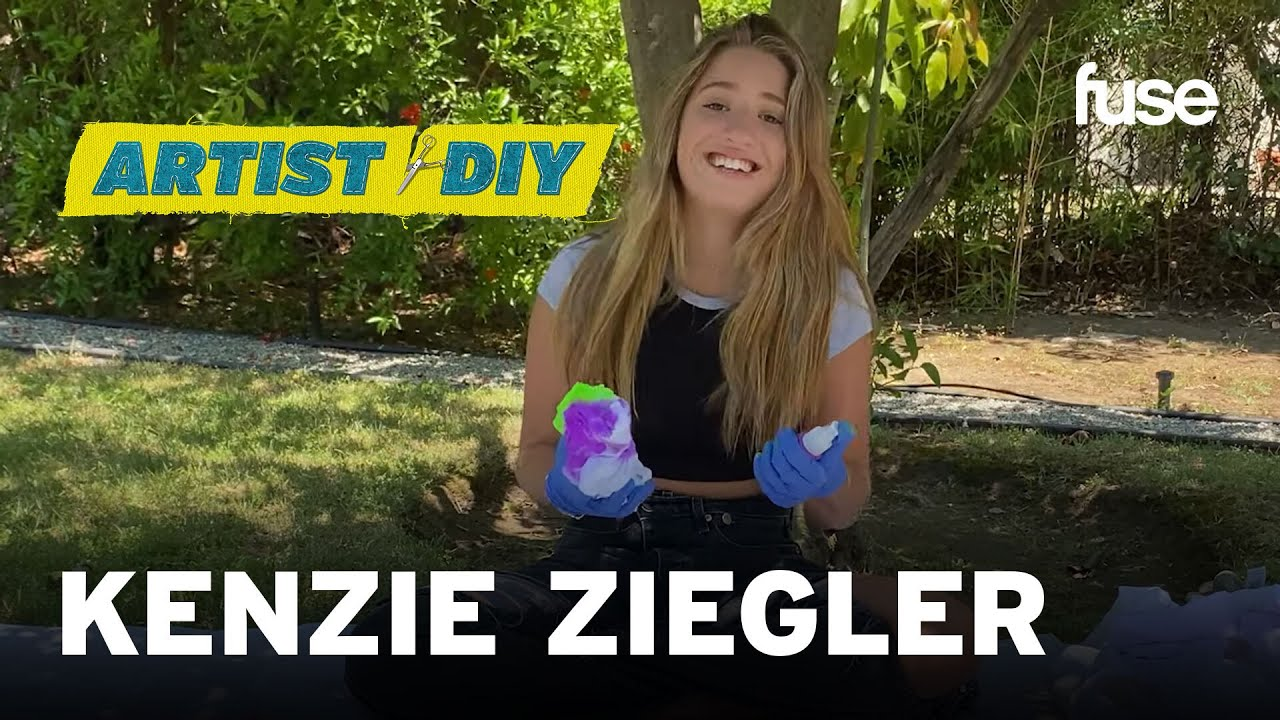 Kenzie Ziegler Creates Her Very Own Glow In The Dark Tie Dye Clothes | Artist DIY