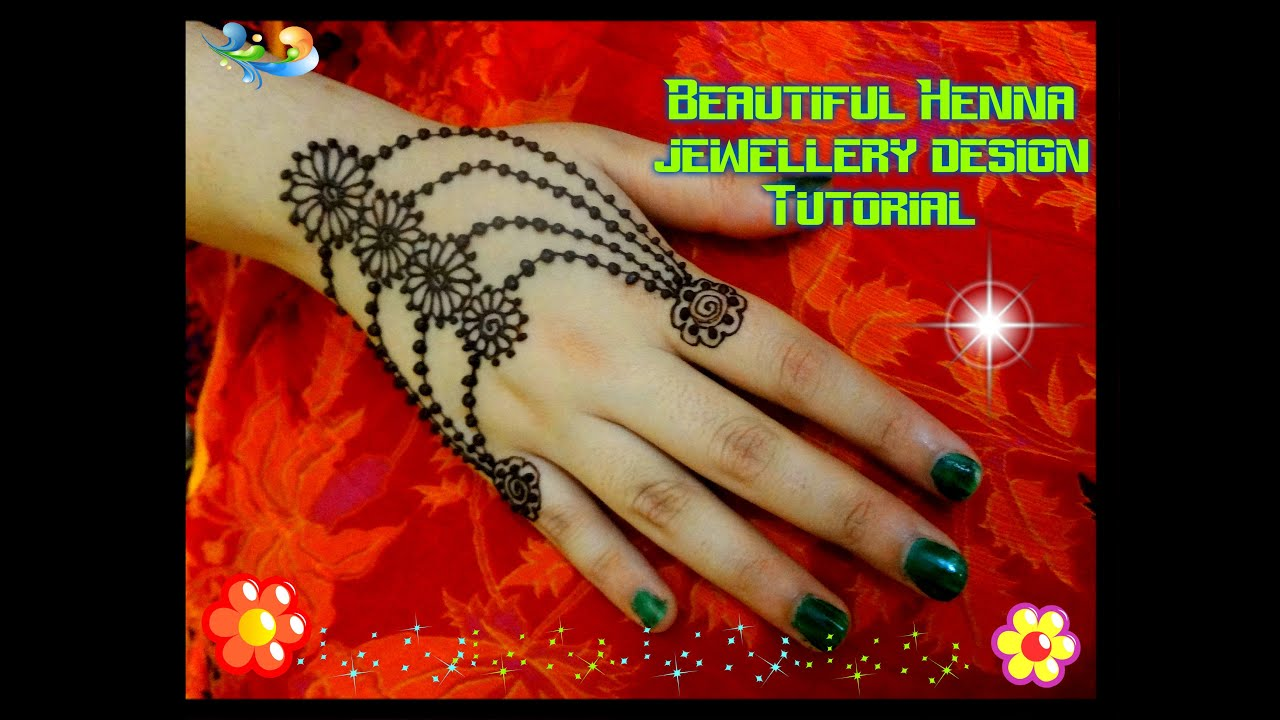 20 Beautful Henna Designs For Nikah: Easy DIY: Beautiful Henna Mehndi Ornamental Design