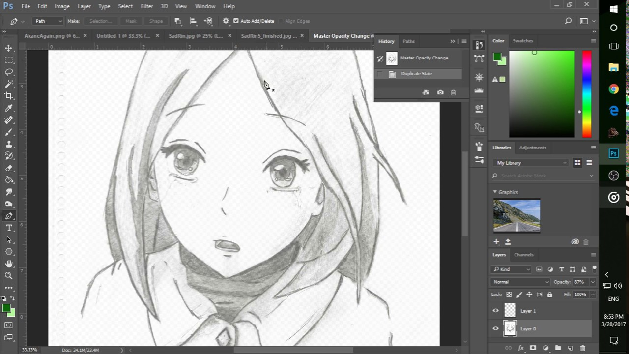 Photoshop Using The Pen Tool For Anime Art Youtube