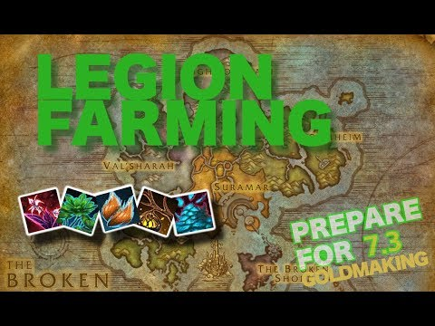 Legion 7.2.5 - Herbalism Guide - How to farm all herbs - Prepare for patch 7.3