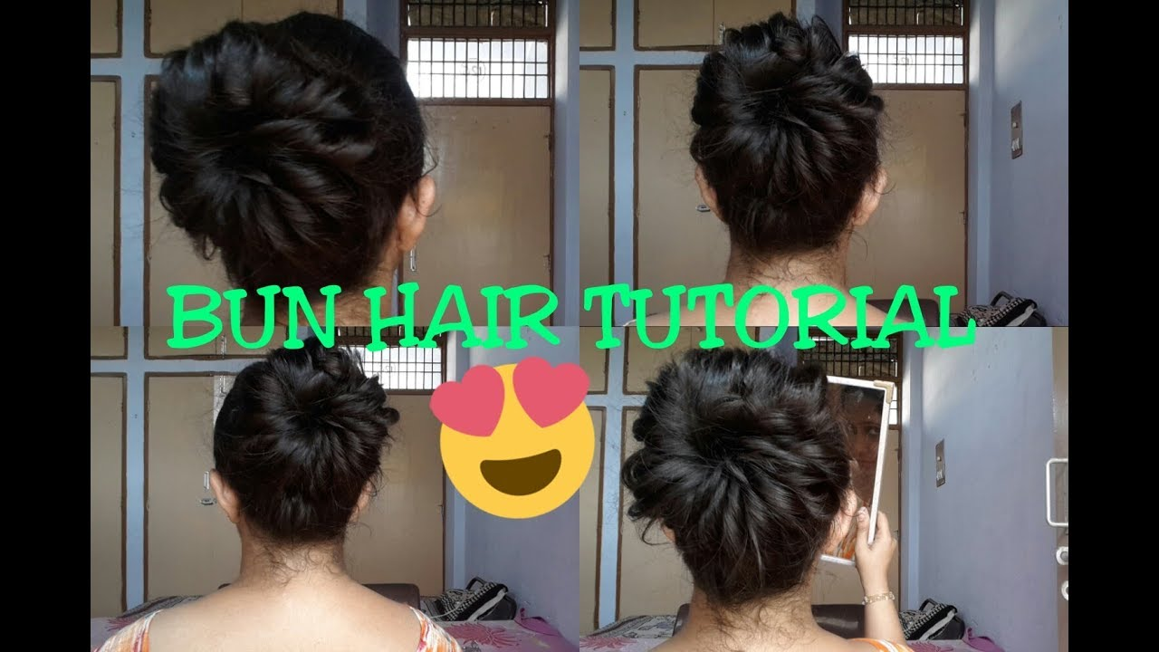 Bun Hairstyle For Saree Lehenga Gown Dresses Quick Easy Youtube