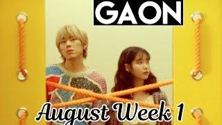 top 100 gaon kpop chart 2018 august week 1