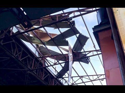 Разрушительный смерч обрушился на г. Рузаевка, Мордовия