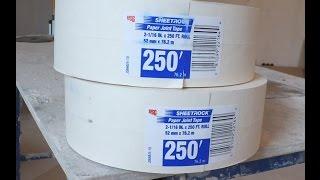 Армирование внешних углов потолка из гипсокартона(Для армирования углов гипсокартона мы используем армирующую ленту вместо оцинкованных углов. Мы занимаем..., 2016-03-21T20:26:58.000Z)