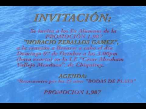 Chiquitoy Invitación A Reunión Bodas De Plata Promo 1987