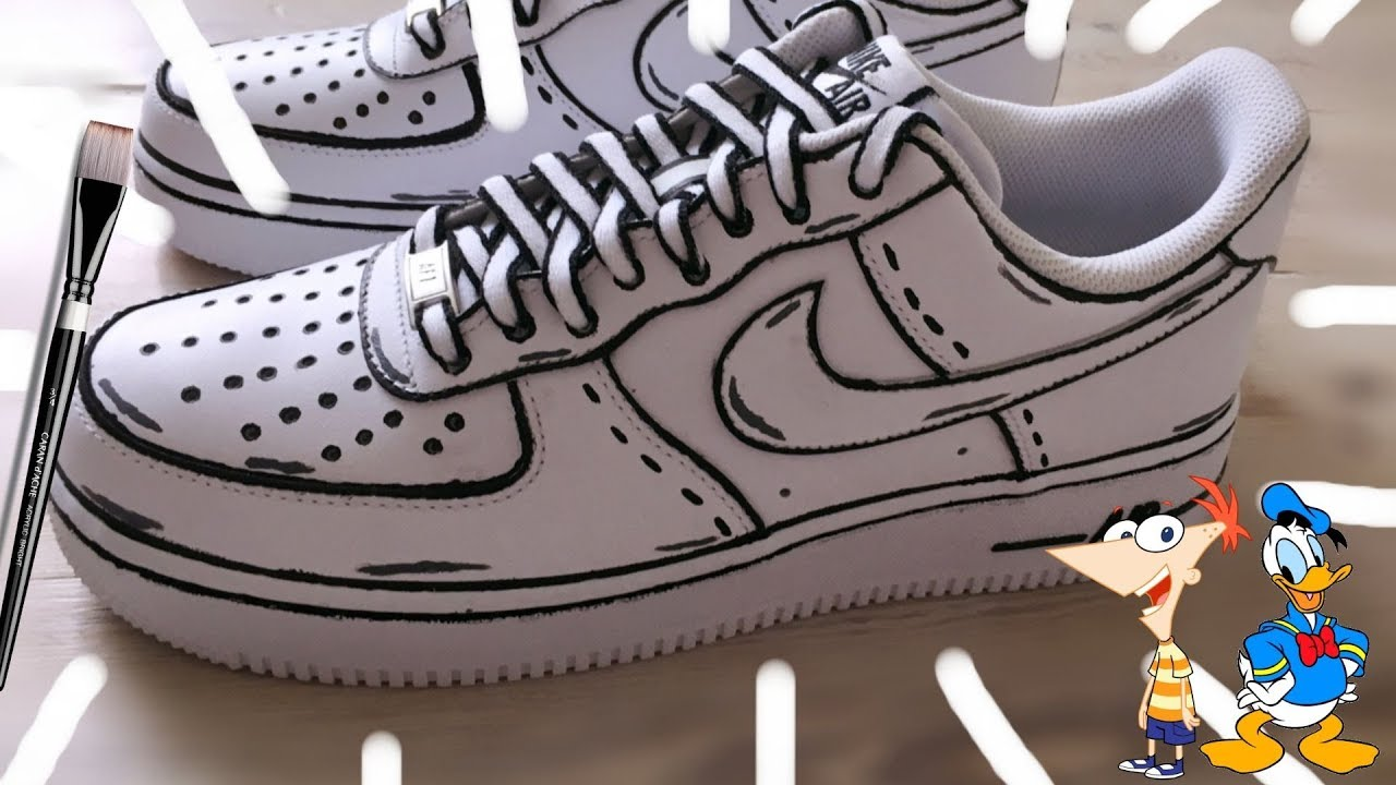 CARTOON AIR FORCE 1 CUSTOM! (tutorial) (satisfying)