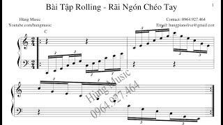 Hướng dẫn kỹ thuật rolling - rãi ngón chéo tay - Hùng Music