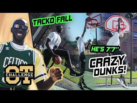 7'7' Tacko Fall DOMINATES The Overtime Challenge! Goes Off In Dunk Contest WITHOUT JUMPING