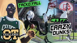 """7'7"""" Tacko Fall DOMINATES The Overtime Challenge! Goes Off In Dunk Contest WITHOUT JUMPING 😱"""