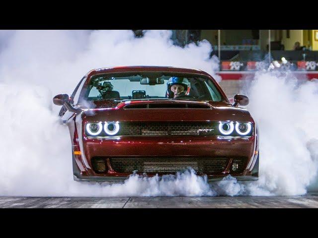 Dodge Demon vs Lamborghini Aventador   Top Gear: Series 25