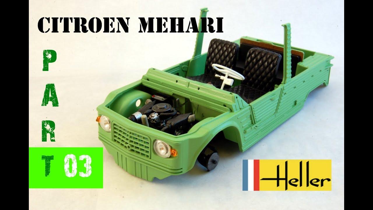 Scale Model Heller Citroen Mehari 1 24 Build Review Part