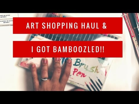 How I Got Bamboozled Buying Stuff in Instagram P.2 & Art Supply Haul Unboxing Raspy Voice ASMR