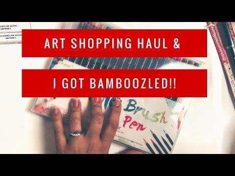 How I Got Bamboozled Buying Stuff in Instagram P.2 & Art Supply Haul Unboxing Raspy Voice ASMR