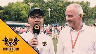 Wolves Chinese super fan Yang meets Steve Bull before the Premier League Asia Trophy final!