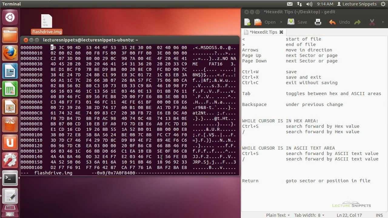 Ubuntu 12 04 Forensics - Hexedit