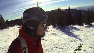 Snowboarding in the woods - with GoPro Hero 3 Cam