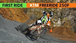 first Ride: KTM Freeride 250F 2018, ridden at EnduroGP Germany Extreme Test area