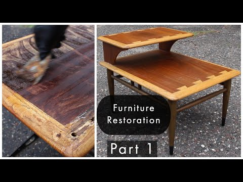 Mid Century Furniture Restoration | Part One | Lane Acclaim Step Table Refinish And Repair