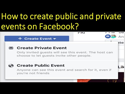 How to Create an Event on Facebook? - Creating Public or Private Event on Facebook - FB Tutorials