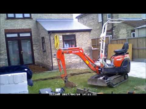 Falcon Conservatory Part 1 to ground works (5 days in 4mins)