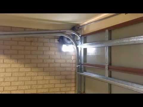 Sectional Door With Roller Door Side Mounted Motor Youtube