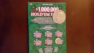 TRIPLE HANGER ALERT ON THE NY STATE LOTTERY INSTANT WIN SCRATCH TICKET!  50-50 SPLIT W/ THE FALCON