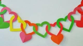 Repeat youtube video Guirnalda de corazones - Adornos para colgar - Manualidades para todos