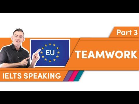 TEAMWORK — IELTS Speaking Part 3 — Teacher Sample Answer