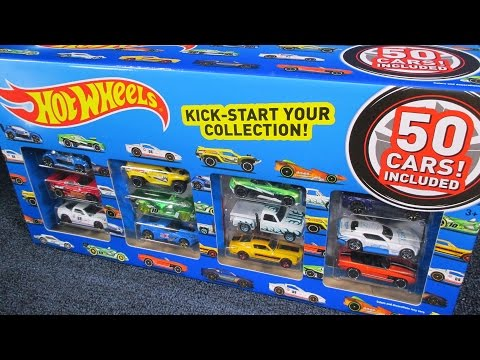 Toys R Us Hot Wheels 50-Pack Unboxing By Race Grooves