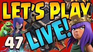 QUEENWALK FOR DAYS! How to Queenwalk TH9 Let's Play ep47 LIVE STREAM | Clash of Clans
