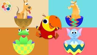 Huevos Sorpresa de Animales con Larry - Aprende Jugando | BabyFirst Español
