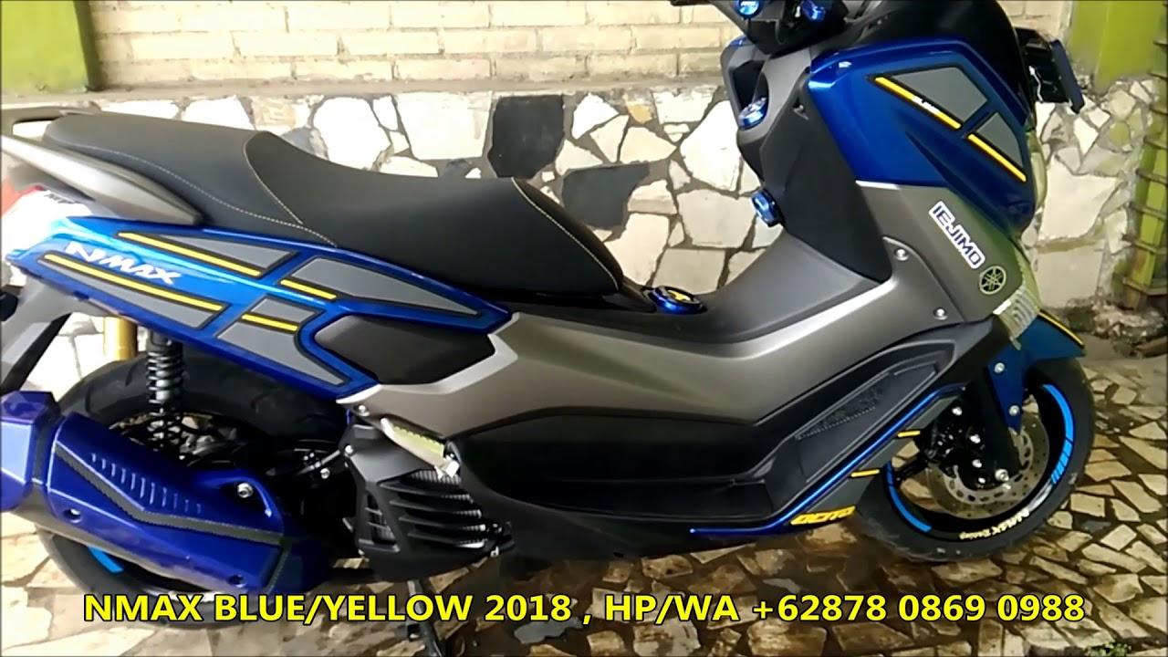 modifikasi yamaha nmax design  iejimo motor blue