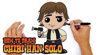 How to Draw Han Solo | Star Wars