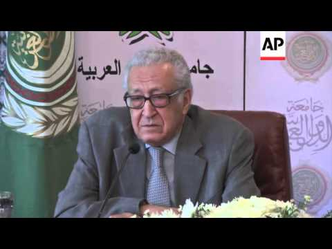 Peace envoy Brahimi in talks on Syria with Arab League leadership