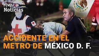 CIUDAD DE MÉXICO: Éste es el MOMENTO en el que se DERRUMBA el tramo del METRO | RTVE