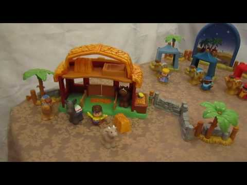 JENL Treasures' Fisher Price Little People Christmas Collection Nativity And Drummer Boy Sets