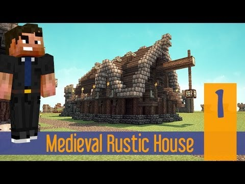 Minecraft Tutorial Let S Build Meval Rustic House Part 1 Ps4 Xbox Ps3 Pc Pe