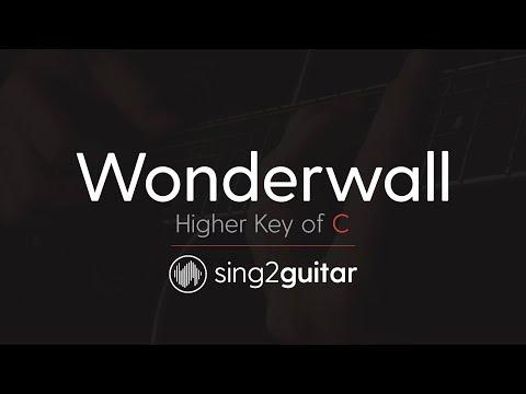 Wonderwall (Higher Key of C - Acoustic Guitar Karaoke) Oasis